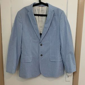 IZOD Blue Checkered Sport Coat